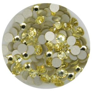 1440 PCS Ss10 (2.8mm) High Quality Crystal Flatback Rhinestones - 2028 Pale Yellow (Jonquil 213) No Hotfix pictures & photos