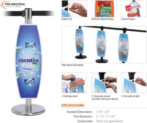 Low Cost High Impact Advertising Plastic Stanchion Signs pictures & photos