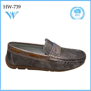 New Fashion Children Hot Sale PU Shoes Flat Shoes pictures & photos