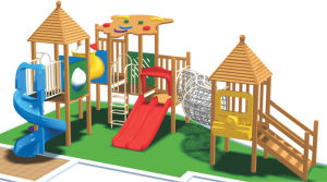 2014 Wooden Colorful Outdoor Playground for Kids pictures & photos