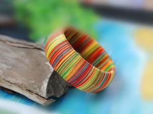 Fashion Multicolor Silk Bangle Jewelry (SZ0402)