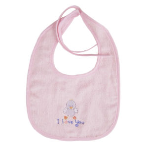 Plain Cotton Embroidered Animal and Words Baby Bibs pictures & photos