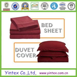 300tc Egyptian Cotton Dye King Bed Sheet Set 4PCS pictures & photos
