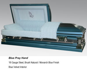 Blue Pray Hand