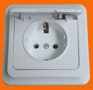 IP44 German Style Surface Mounting Cover Power Wall Socket (S7510) pictures & photos