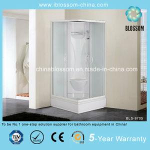 Triangle Sliding Door Matt Glass Complete Shower Cabin/Room (BLS-9705) pictures & photos