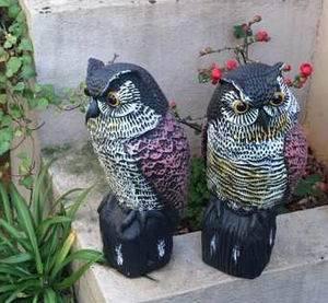 Fake Owl Drive Bird Animal Garden Scare Birds