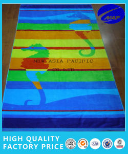 100% Cotton Comed Yarn Dyed Jacquard Beach Towel
