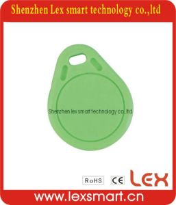 Ios14443A Engraved Round Colored PVC Key Tags