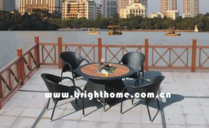 Outdoor Dining Set / Garden Rattan Furniture (BP-377) pictures & photos