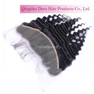Natural Color Brazilian Human Hair Deep Wave Closure Hair Extensions pictures & photos