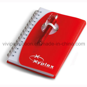 Custom Spiral PP Cover Notebook with Pen for Business Gift (PPN227) pictures & photos