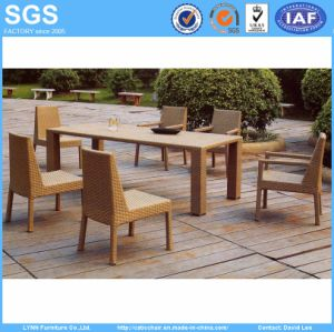 Outdoor Garden Furniture Wicker Dinnig Set Long Table and Chairs (GS29) pictures & photos