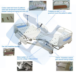 Ce Approved Medical Three Function Electric Hospital Patient Bed pictures & photos