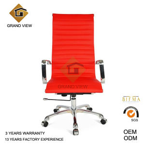 Typist Office Wheel Red Leather Chair (GV-OC-H306) pictures & photos