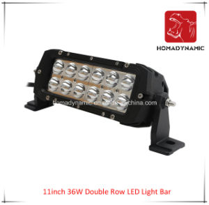 LED Car Light of 11 Inch 36W Double Row LED Light Bar Waterproof for SUV Car LED off Road Light and LED Driving Light pictures & photos
