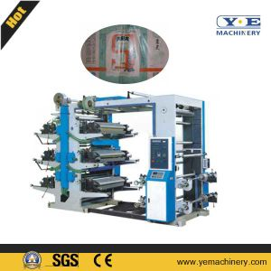 Roll Paper 6 Colors Flexo Printing Machine with Automatic Tension (YT) pictures & photos