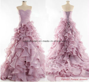 Layered Quinceanera Gowns Strapless Pink New Quinceanera Dresses Z3022 pictures & photos