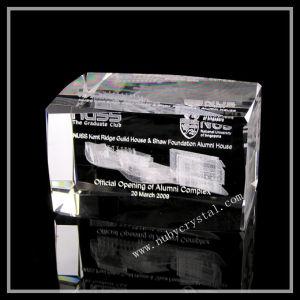 Laser Crystal Building Block Souvenir Gift 8x5cm pictures & photos