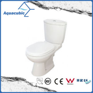 Siphonic Dual Flush Two-Piece Elongated Toilet in White (ACT9028) pictures & photos