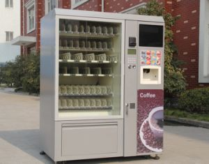 LCD Screen Cold Drink Snack/Coffee Vending Machine for Sale LV-X01 pictures & photos