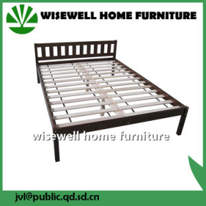Solid Pine Wooden Double Bed with Low Foot End (WJZ-B85) pictures & photos