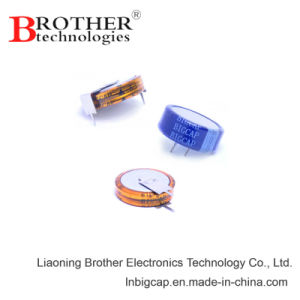 Button Type V -40c ~70c 5.5V 1.5f Super Capacitor pictures & photos