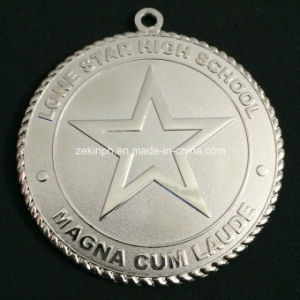 Custom Misty Silver Color School Metal Medals with Double Sides Design pictures & photos