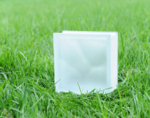 Beautiful Acid Clear Cloudy Glass Brick (JINBO) pictures & photos