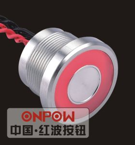 Onpow 22mm Piezo Switch with Large Light (PS225P10YSS1R12L, CE, RoHS) pictures & photos
