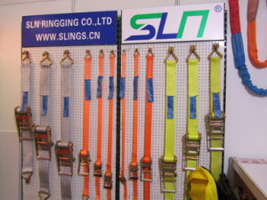 1.5t*35mm 5m Ratchet Strap with Double J Hook pictures & photos