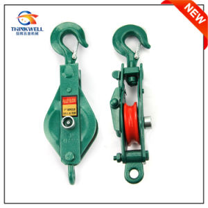Forging Parts Single Wheel Crane Snatch Pulley Block with Hook pictures & photos