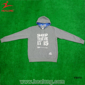 Healong Custom Logo Silk Print Youth Hoodie Sweatershirt pictures & photos