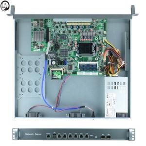 Intel B75 LGA1155 1u Firewall Server with 6* LAN and Bypass 10 Gigabit Optical Card pictures & photos