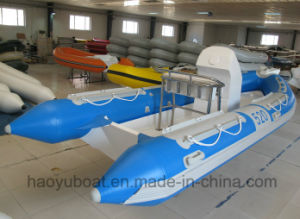 17feet Outboard Motor Boat, Rib Boat, Inflatable Boat Rigid Hull Boat Fishing Boat for Sale pictures & photos