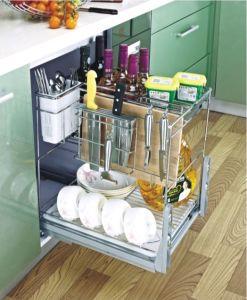 Magic Corner-Kitchen Pull Basket (001) pictures & photos