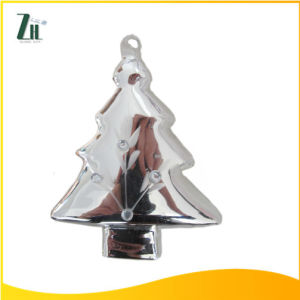 Hand Blown Sliver Glass Hanging Christmas Tree Decoration pictures & photos