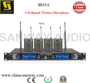 8845A Four Bodypack Wireless Microphone for Karaoke pictures & photos