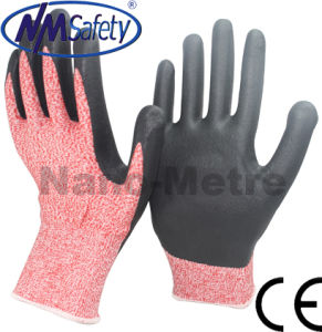 Nmsafety High Quality PU Coated Cut Resistant Safety Work Gloves pictures & photos