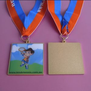 Kindy Tennis Medal Square pictures & photos