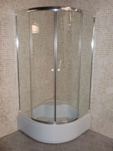 Round Complete Simple Shower Room Enclosure 30cm Tray pictures & photos