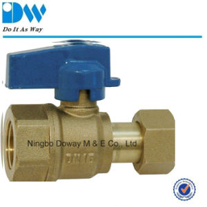 Brass Ball Valve for Water Meter Male End pictures & photos
