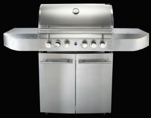 Stainless Steel 4 Main Burners Barbecue Gas Gril