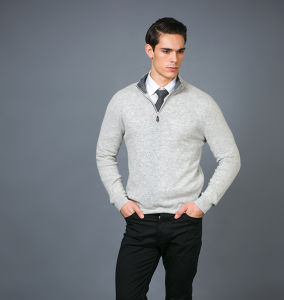 Men′s Fashion Cashmere Blend Sweater 17brpv127 pictures & photos