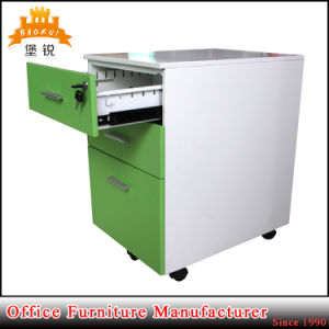 Kd Sturcture Cold Rolled Steel Office Furniture Thin Edge 3-Drawer Mobile Cabinets A4 Mobile Pedestal pictures & photos