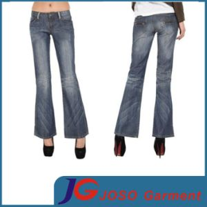 New Style Bell-Bottom Women Jean Trousers (JC1207) pictures & photos
