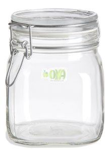 100ml-1000ml Bale Square Glass Jar, Coffee Storage Jar