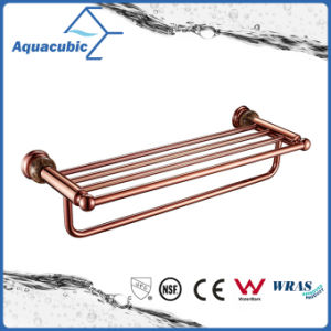 Wall Mount Double Towel Shelf in Gold Rose (AA6518) pictures & photos