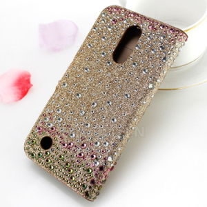 Bling Diamond Leather Wallet Flip Case for LG K10 2017 pictures & photos