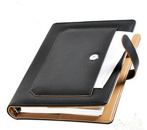 Imitation Leather Notebook with Phone Elastic Holders pictures & photos